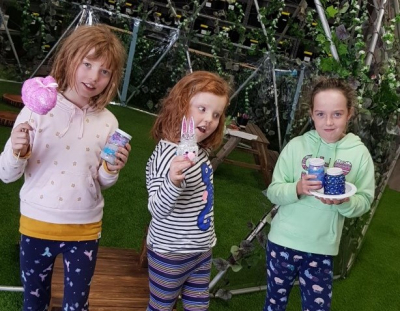 Ruby (8), Lottie (5) and Ronnie (8)